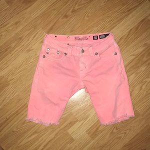 Pink Miss Me Bedazzled Jean Shorts